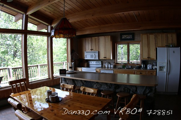 Kitchen and Living Room at Elbow LAke