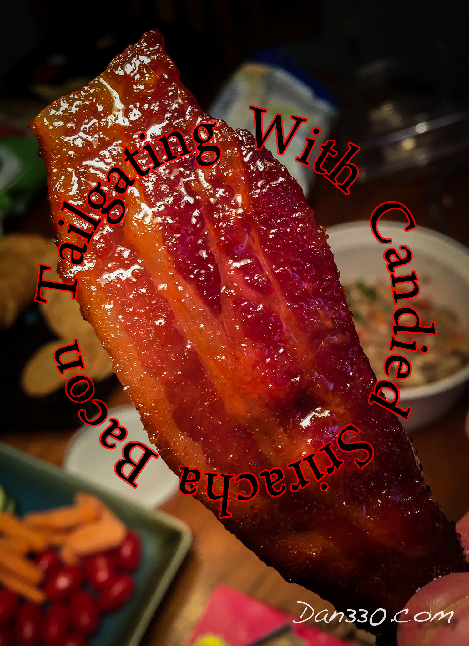 candied sriracha bacon