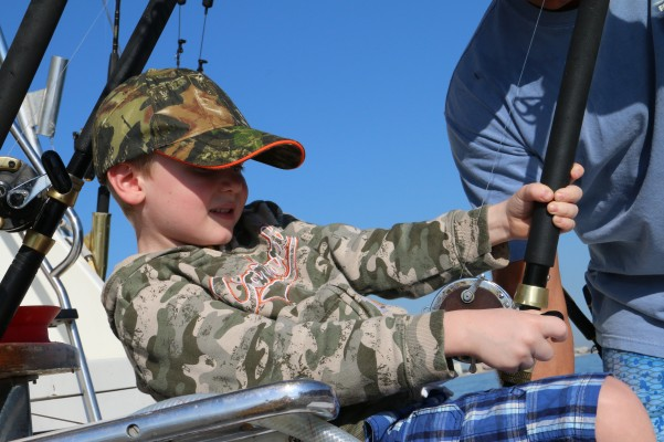 Getting tuckered out reeling in a big fish!