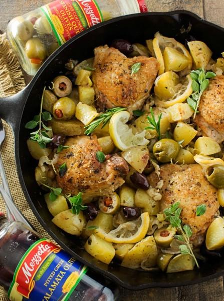 One Pan Mediterranean Braised Chicken with Potatoes – Dan330