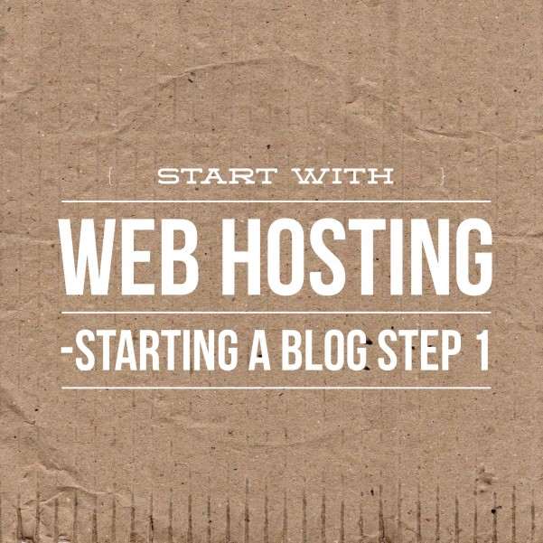 start with webhosting