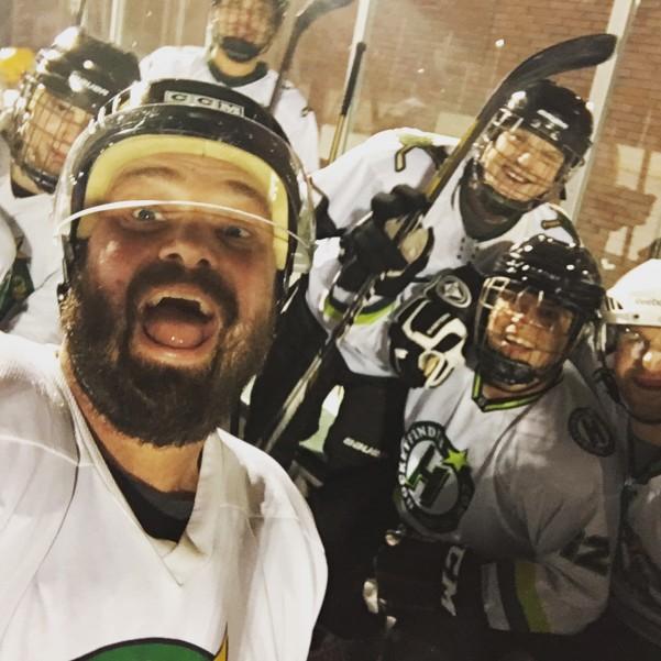 hockey selfie