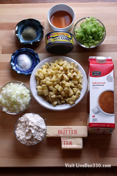 clam chowder ingredients