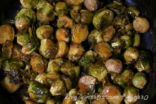 red hot brussel sprouts