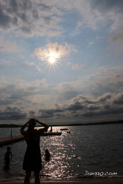 sunset at elbow lake lodge