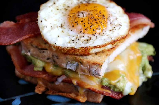 Guacamole and Egg Breakfast Grilled Cheese
