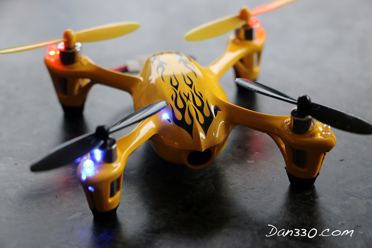 Here's a close up of the quadcopter I received.