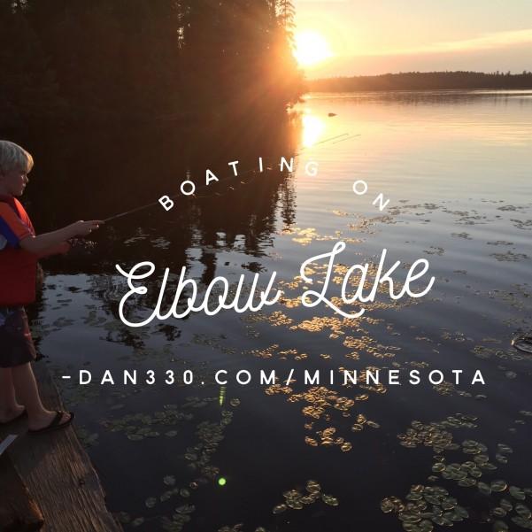 boating on elbow lake