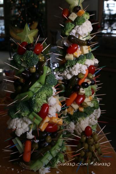 vegetable tree centerpiece