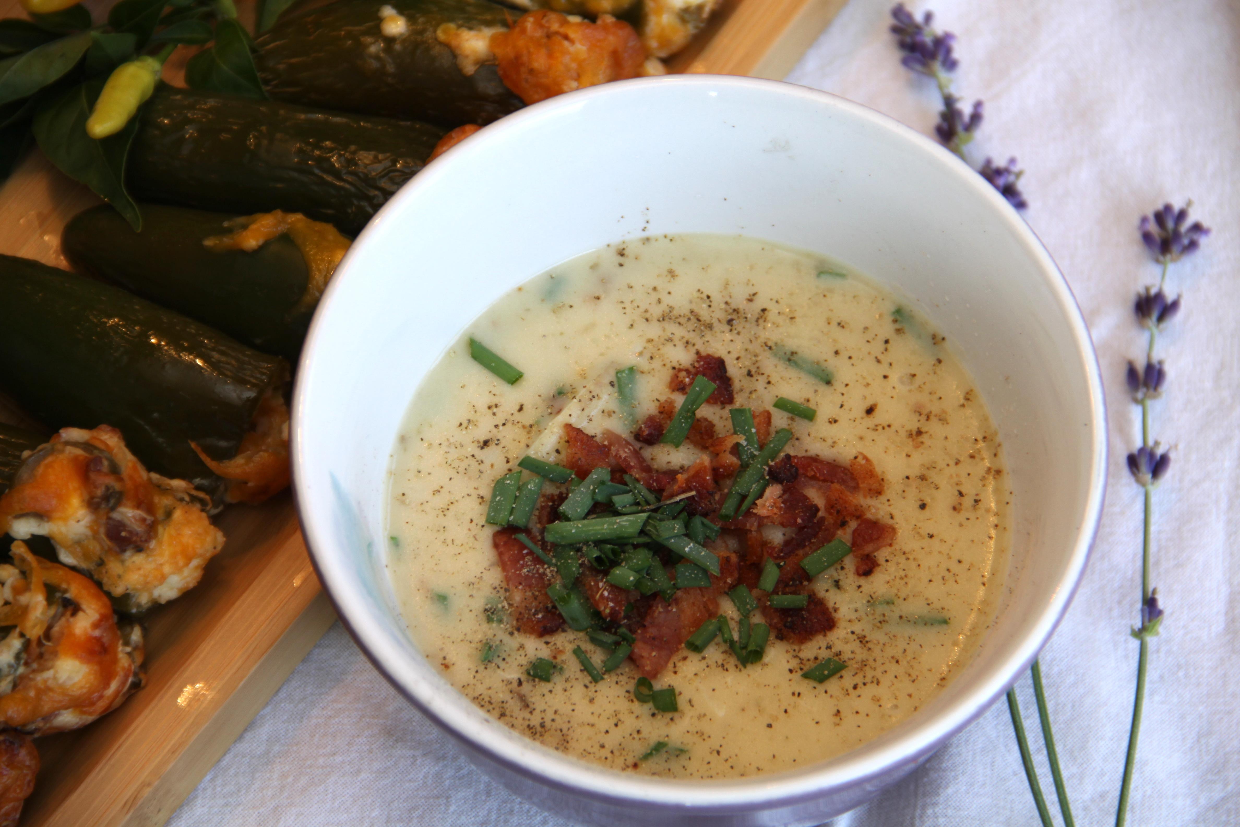 Creamy Leek & Potato Bacon Soup - Dan 330