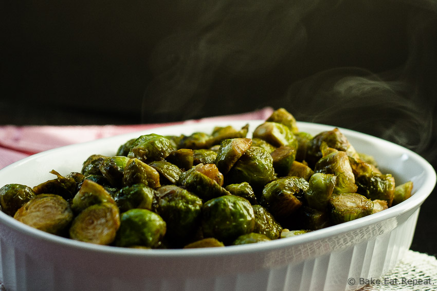 Maple Balsamic Roasted Brussels Sprouts