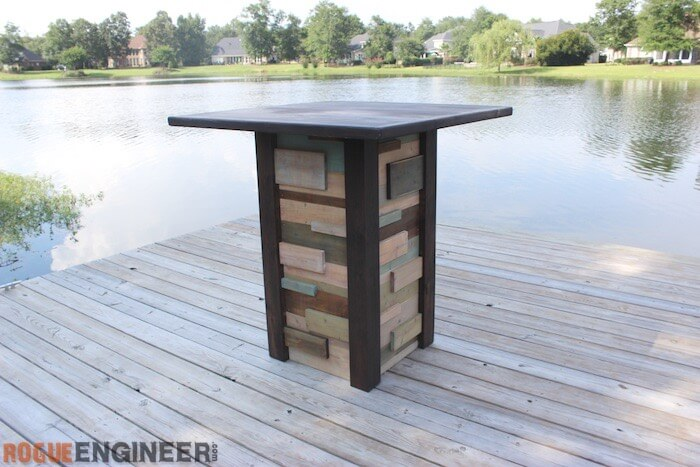 Modern Reclaimed Pub Table - DIY Plans - Rogue Engineer 6