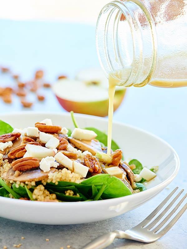 Mushroom Quinoa Salad