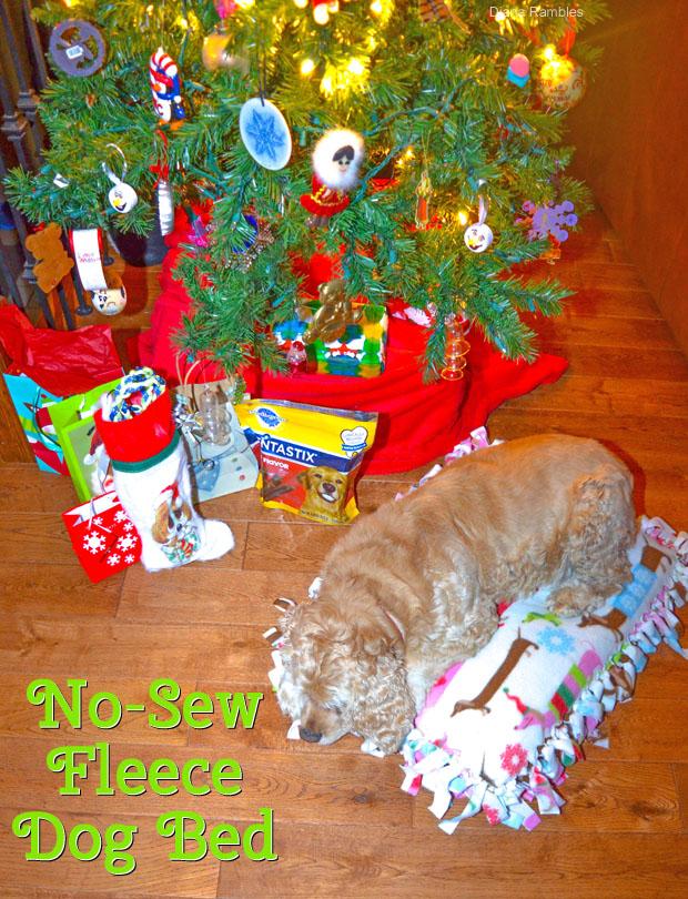 DIY No-Sew Fleece Dog Bed