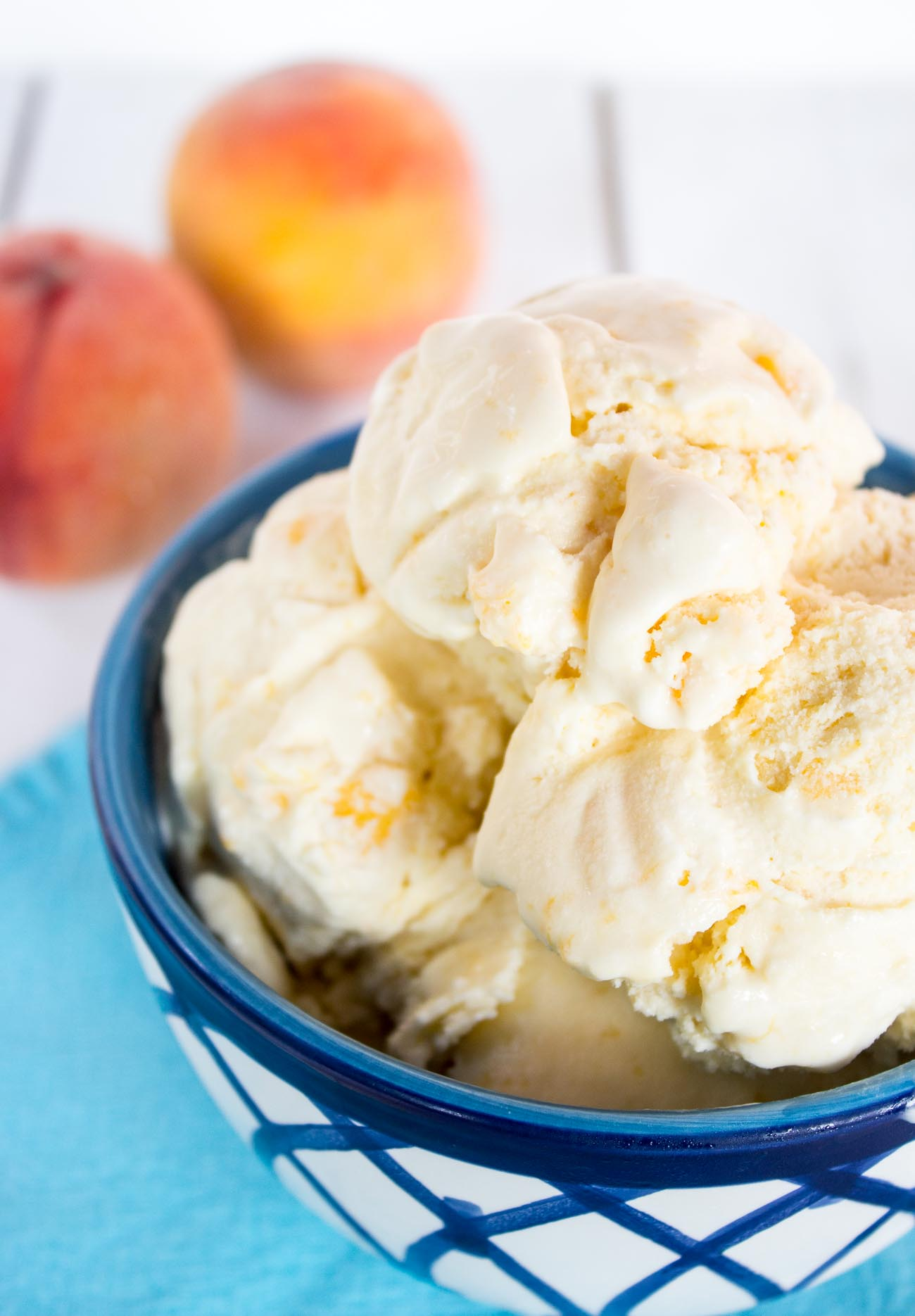 Old Fashioned Peach Ice Cream Beyond the Chicken Coop 2