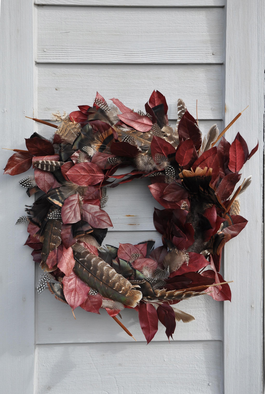 Diy Turkey Feather Wreath For Fall Dan330