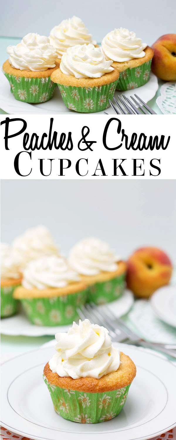 Peaches and cream Cupcakes Pin