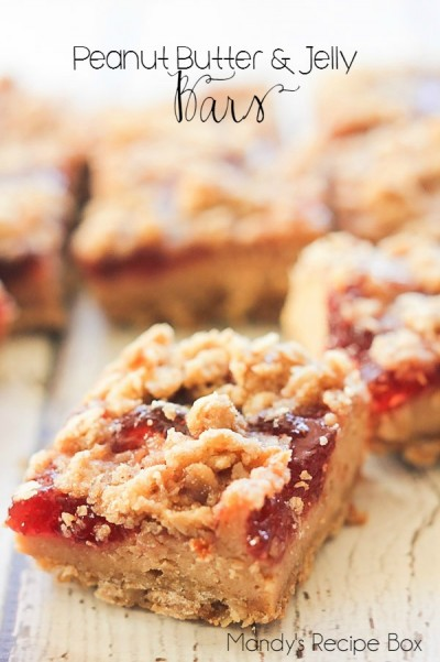 Peanut Butter and Jelly Bars on Mandy's Recipe Box