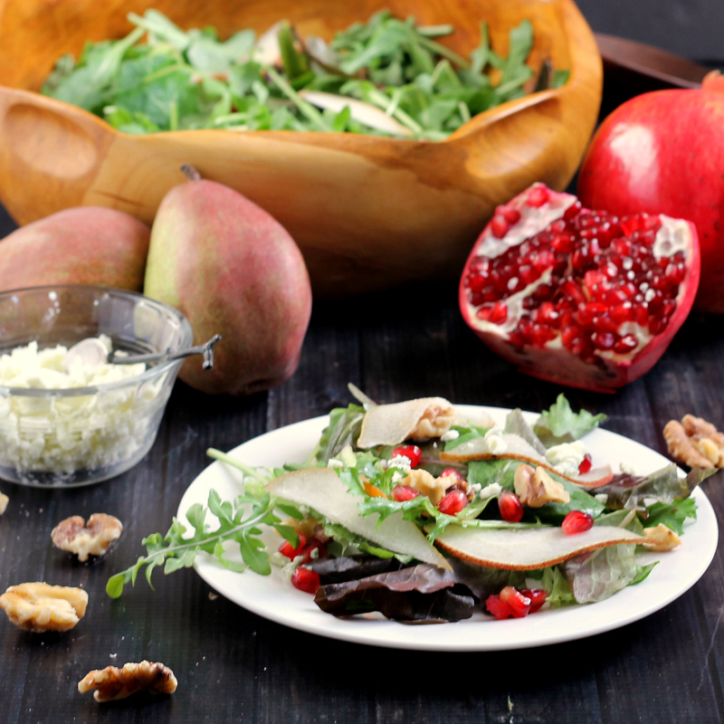 Pear, Pomegranate, & Walnut Salad