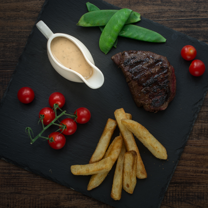 Peppercorn Sauce Top-down