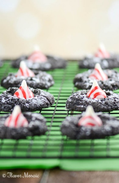 Peppermint Kiss Chocolate Crinkle Cookies-40