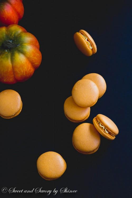 Pumpkin French Macarons-5