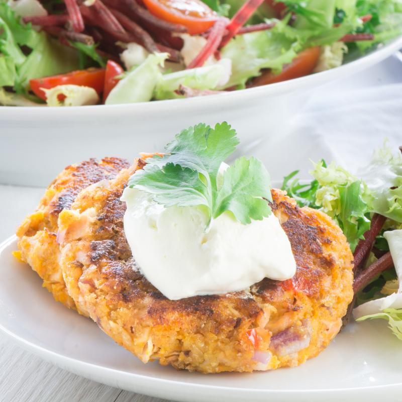 Salmon and Sweet Potato Fishcakes 1