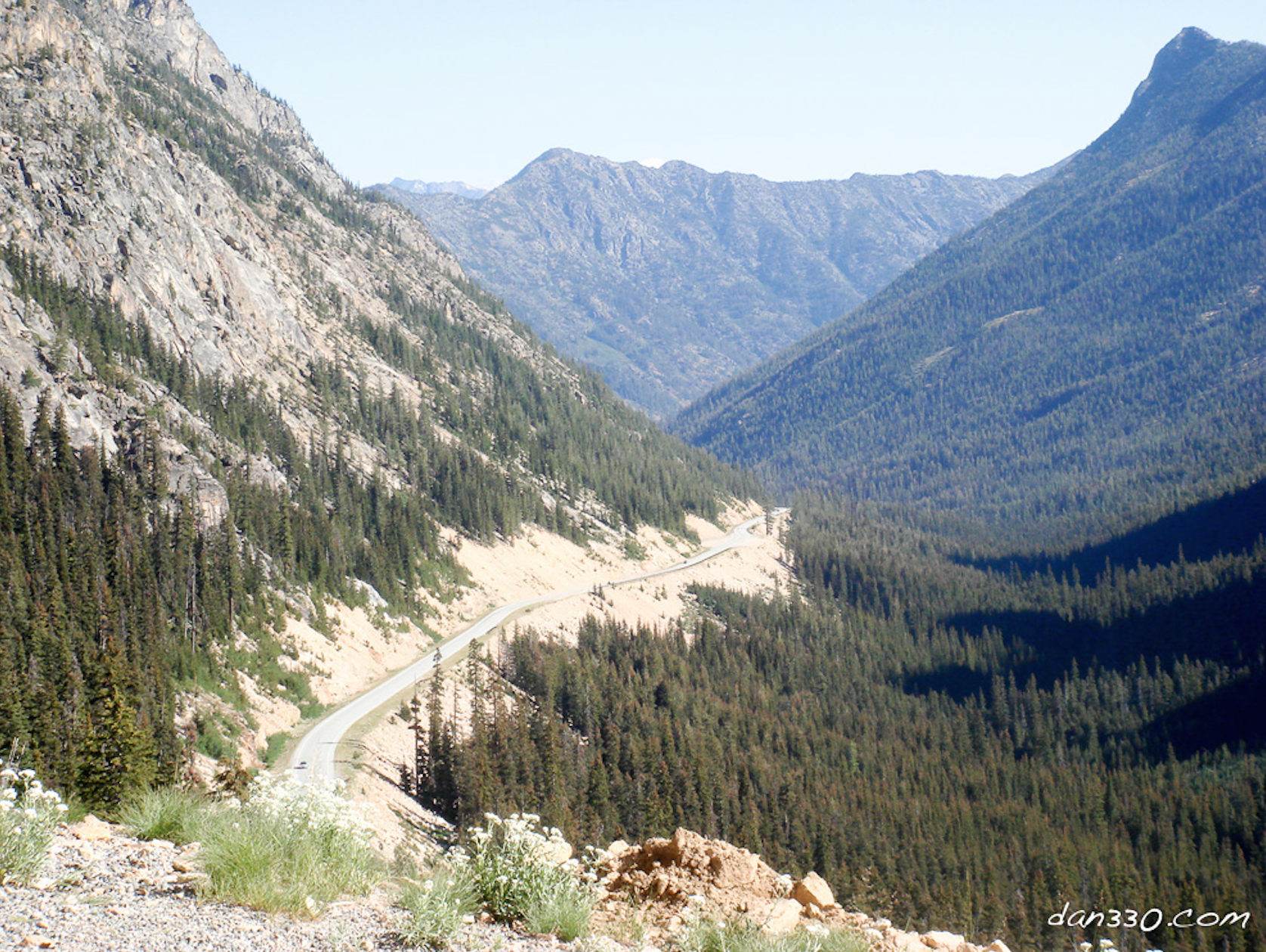 SR - 20 on the east side of the pass