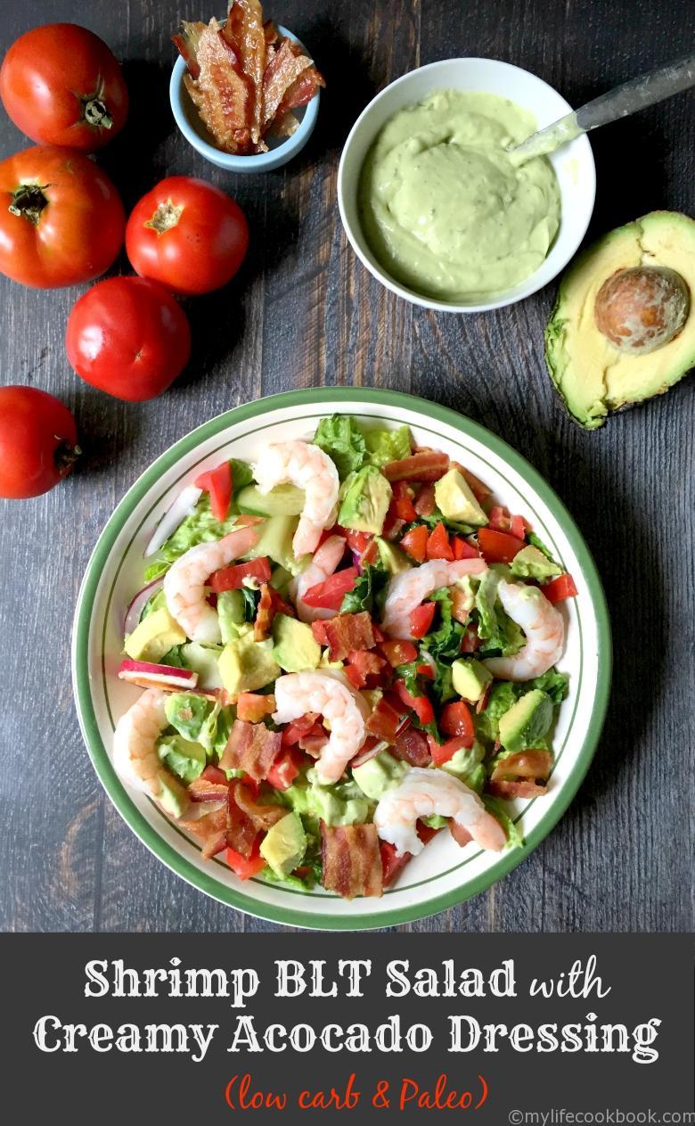 Shrimp-BLT-Salad-Creamy-Avocado-Dressing-P