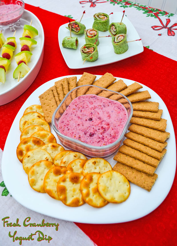 Dairy-Free Creamy Cranberry Holiday Appetizers