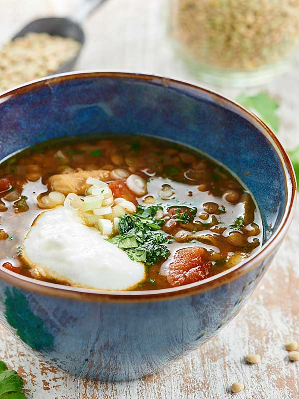 Slow Cooker Chicken Lentil Soup