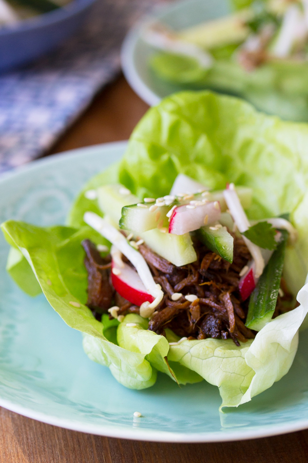 Slow-Cooker-Korean-Beef-Lettuce-Wraps-with-a-Sesame-Cucumber-Salad
