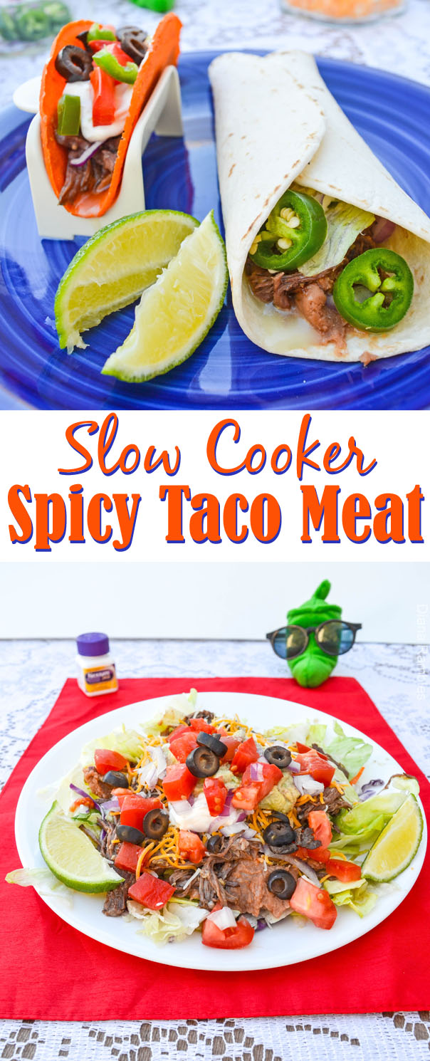 Slow Cooker Spicy Tacos