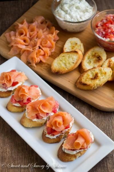 ... smoked salmon pasta recipe smoked salmon crostini with chive caper