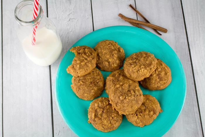 Soft Baked Gluten Free Pumpkin Oatmeal Cookies-15