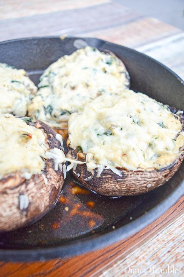 Spinach Ricotta Stuffed Portobello Mushroom Cap Recipe