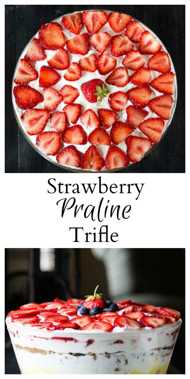Strawberry Praline Trifle Collage