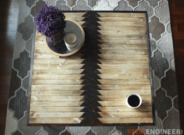 Tribal Hairpin Coffee Table - Free DIY Plans - Rogue Engineer 2