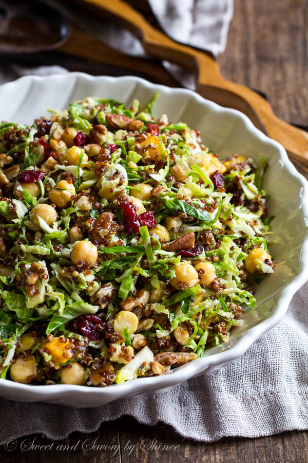Warm Quinoa Brussels Sprout Salad