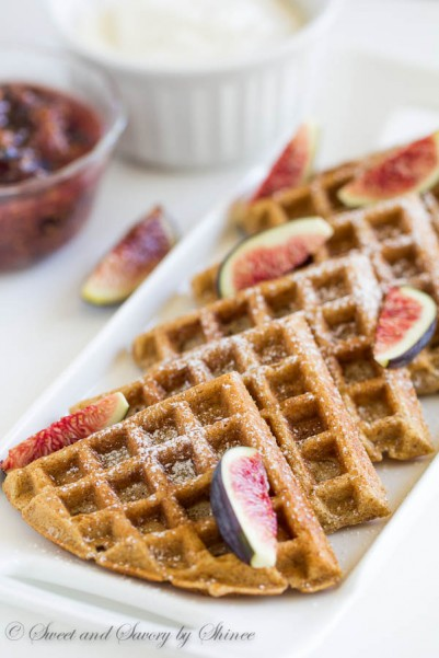 Whole Wheat Waffles with Figs-2