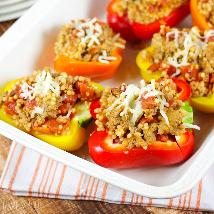 Wholesome Rainbow Couscous Stuffed Peppers