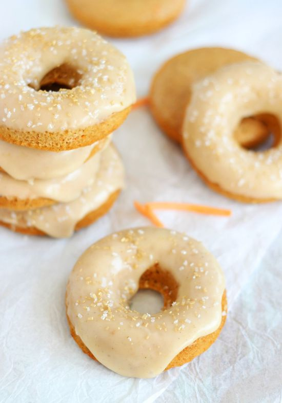 baked carrot cake donuts with honey butter glaze 22