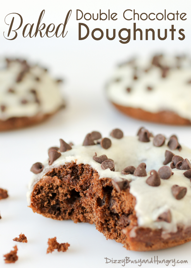 baked double chocolate doughnuts title