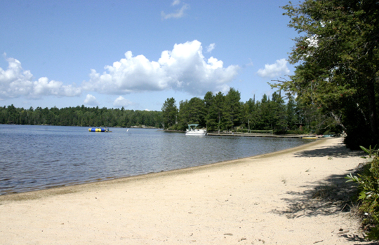 The Beach at Elbow Lake Lodge