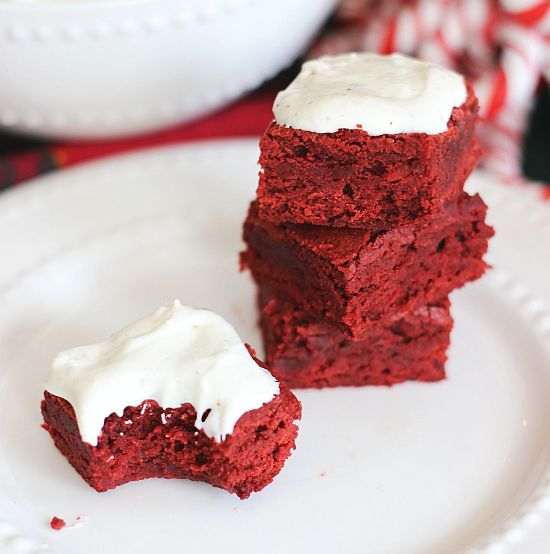 brown butter red velvet brownies with brown butter marshmallow frosting 17