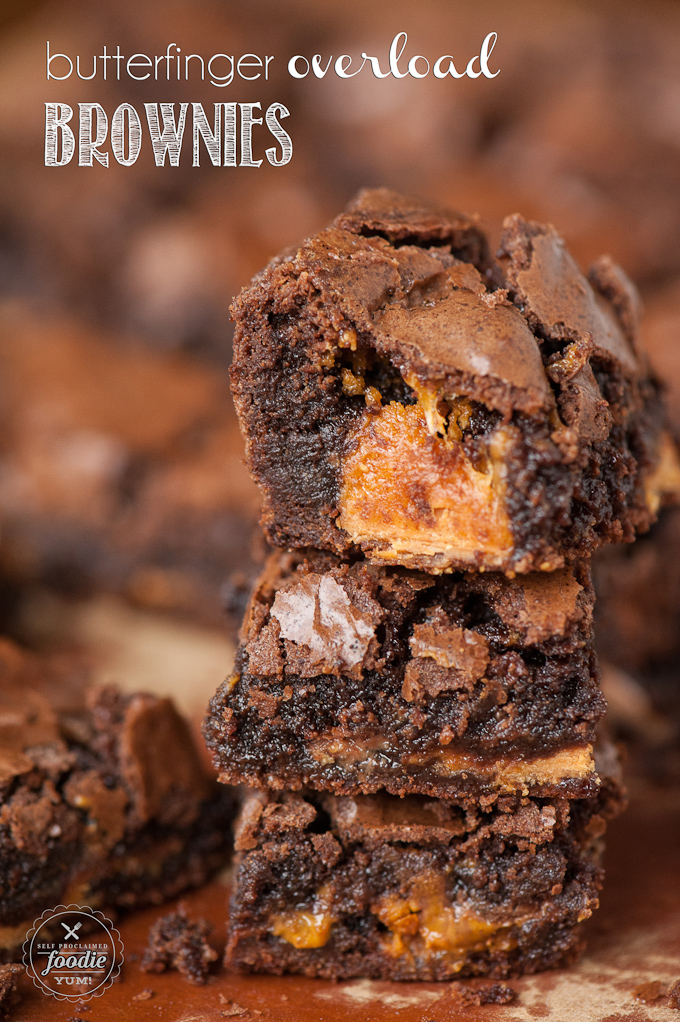 Butterfinger Overload Brownies