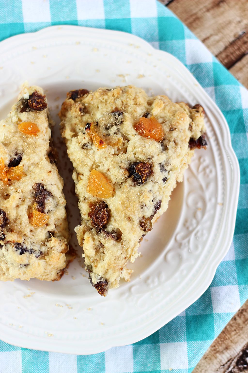 candied pistachio apricot and orange fig scones 3