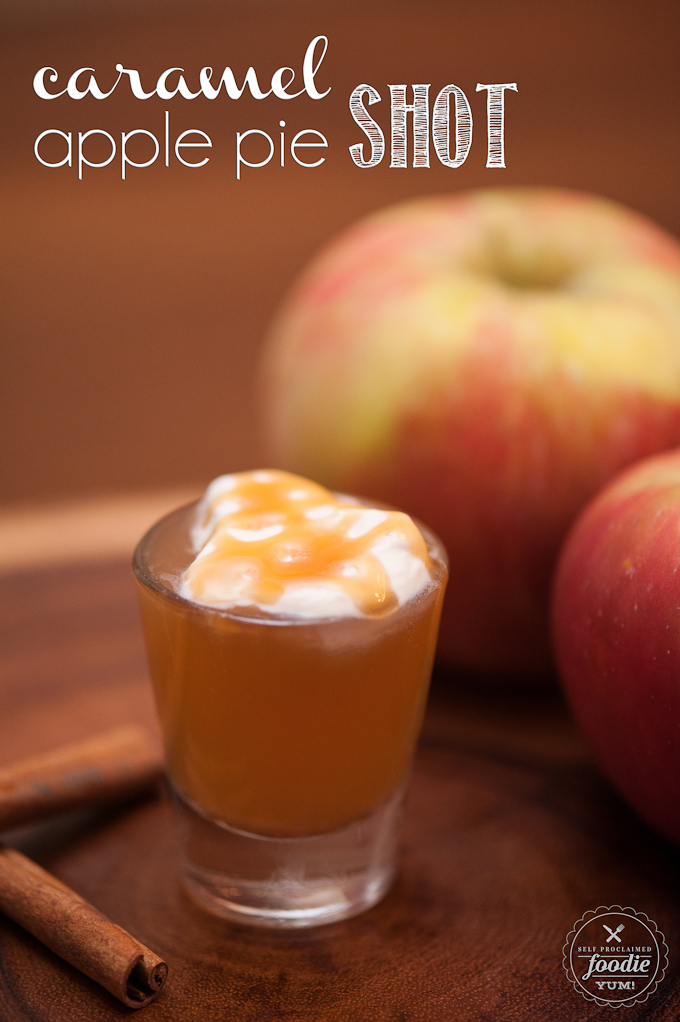 caramel apple pie shot