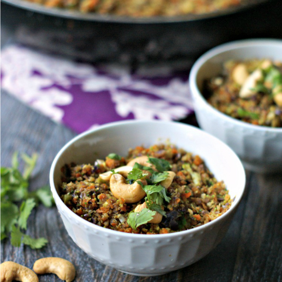 Cashew Curried Vegetable Rice