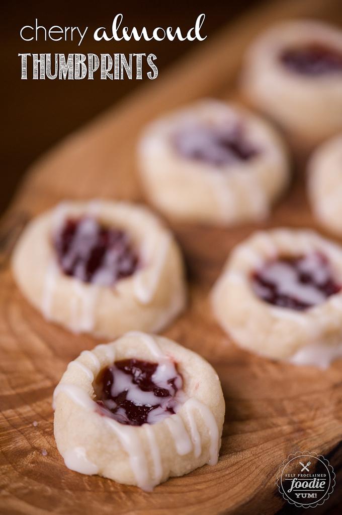 Cherry Almond Thumbprints